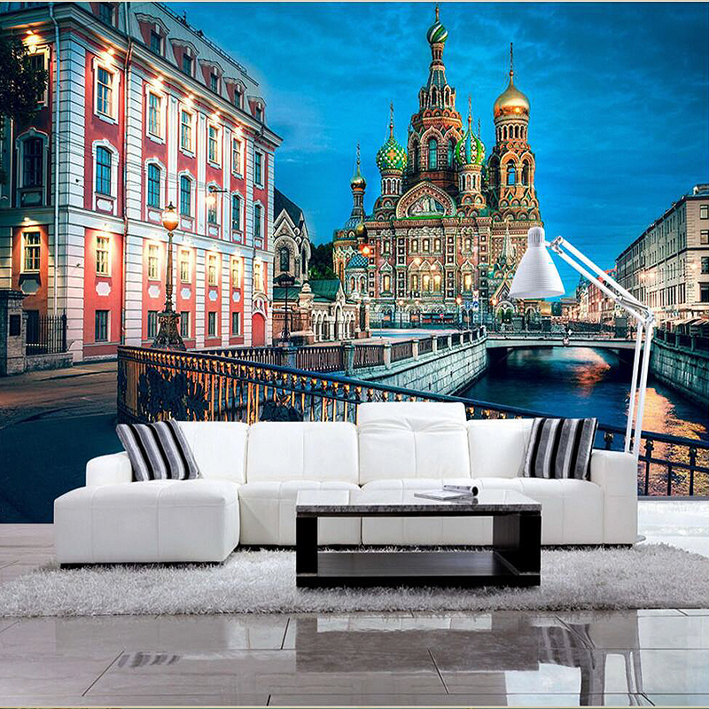 Custom 3d murals Italy Milan Street Arch Town square city photo wallpaper living room sofa tv wall bedroom restaurant wallpapers custom 3d murals new york at night with reflection in water city wallpaper living room sofa tv wall bedroom bar ktv 3d murals
