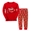 2017 NEW Children Clothing Set Kids Cotton Pajamas Sets for Baby boys Cartoon car girl home nightwear top and pant 2 piece set