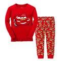 2017 NUEVOS Niños de la Ropa de Los Niños de Algodón Pijamas Conjuntos de ropa de Bebé niños coche de la Historieta casa chica ropa de dormir top y pantalón 2 unidades conjunto