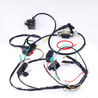 Motorcycle Motorbike Full Electrics Wiring Harness Coil CDI Stator Ignition for 50CC 110CC ATV Bike Car Styling