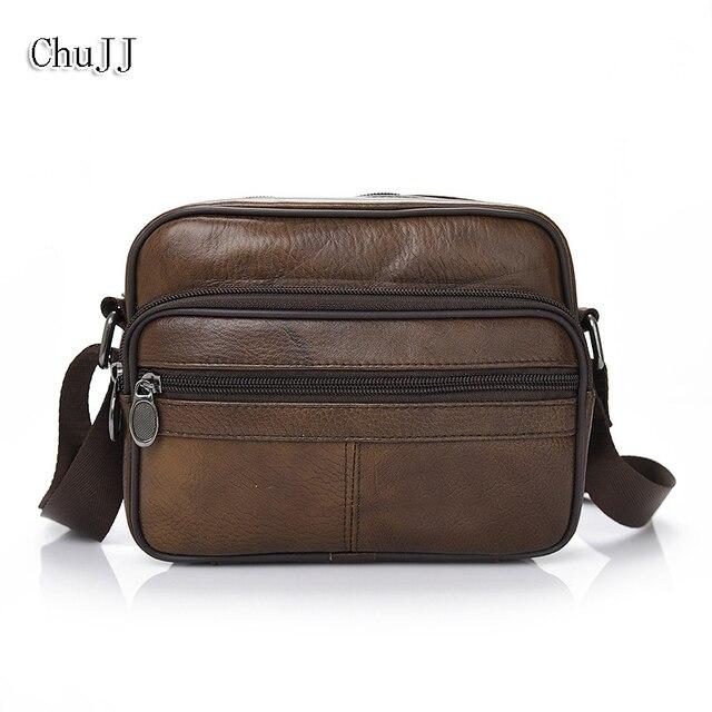4d5bf995af Chu JJ Men s Genuine Leather Bags Fashion Classic Men Messenger Bags Casual Shoulder  Bag Travel Bag Handbag Business Bolsas
