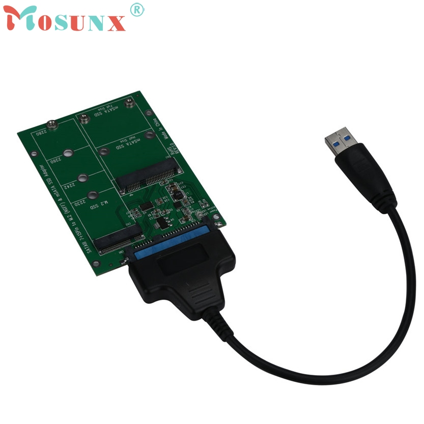 Top Quality 2 in 1 Mini PCI-E 2 Lane M.2 And mSATA SSD To SATA III 7+15 Pin Adapter U0302 touch switch luxury crystal glass panel smart switch remote