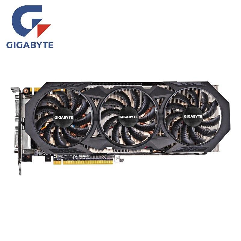 GIGABYTE GTX 970 4 GB Placa De Vídeo Originais GTX970 GTX970 Mapa Cartões Gráficos para nVIDIA Geforce GPU VGA Hdmi Dvi cartões PCI-E X16