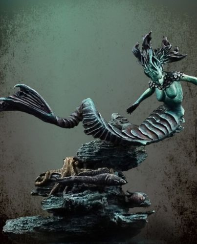 Unassambled  1/32  54MM  Ancient  Water Demon  (WITH BASE ) Historical  Resin Kit Miniature Model Unpainted