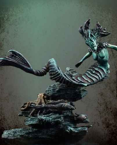 Unassambled  1/32  54MM  ancient  Water Demon  soldier  (WITH BASE ) Historical  Resin kit miniature model Unpainted