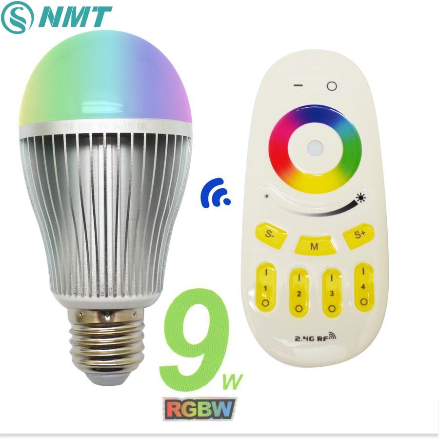 9W Led Bulb E27 E26 Dimmable Mi Light LED Spotlight RGBW RGBWW AC86-265V LED Bulb Lamp For Indoor Lighting mi light 2 4g mr16 4w led bulb rgbww rf professional smart led spotlight wireless wifi controller for led bulb ac dc12v