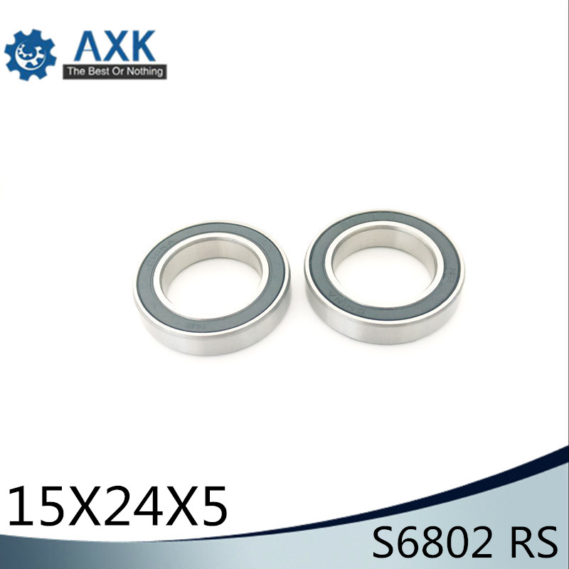 Bearings 6802 ( 1 PC) 440C Stainless Steel Rings With Si3N4 Ceramic Balls Bearing S6802Bearings 6802 ( 1 PC) 440C Stainless Steel Rings With Si3N4 Ceramic Balls Bearing S6802