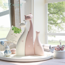 Miz 3 Pieces Cat Resin Dolls Desk Accessories Cute Sleepy Cat Kitty Sweet Home Decoration Kit Paw Print