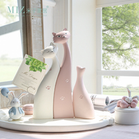 Miz Home Decoration Accessories Miniature Garden Figurine Resin Decoration Home Kids Bedroom Decor 3 Pieces Cat