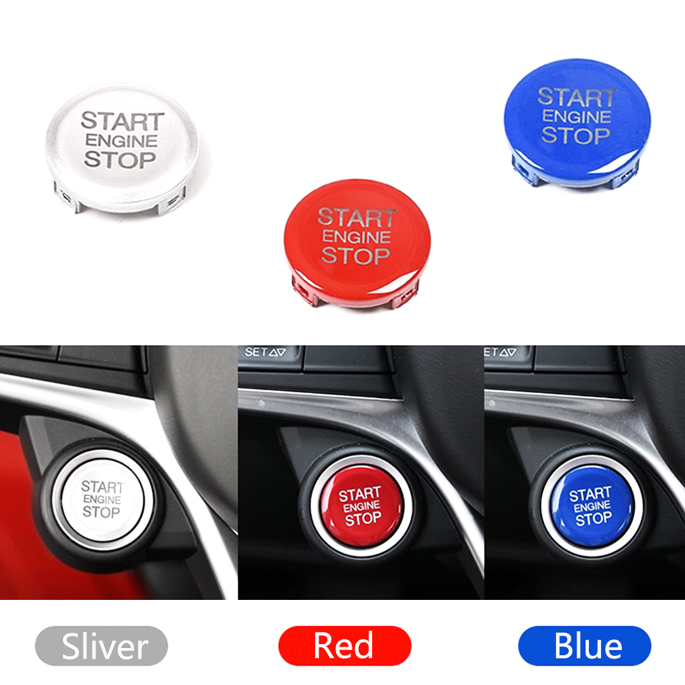 JEAZAE Blue Silver Red ABS Engine Start Stop Push Button Ring Trim For Alfa Romeo Giulia Stelvio 2017 2018 Car Accessories|Interior Mouldings| |  - title=