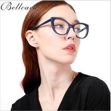 Bellcaca Optical Eyeglasses Frame Women Prescription Spectacles Trendy Style Accessories Glasses Frames Clear Lens Eyewear BC813