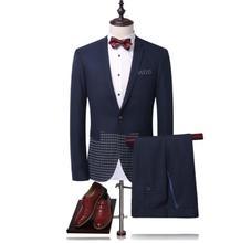 Jacket+pants men clothes single button wedding suits men,casual mens Dress suits,Business Suits blazers size personalizzato