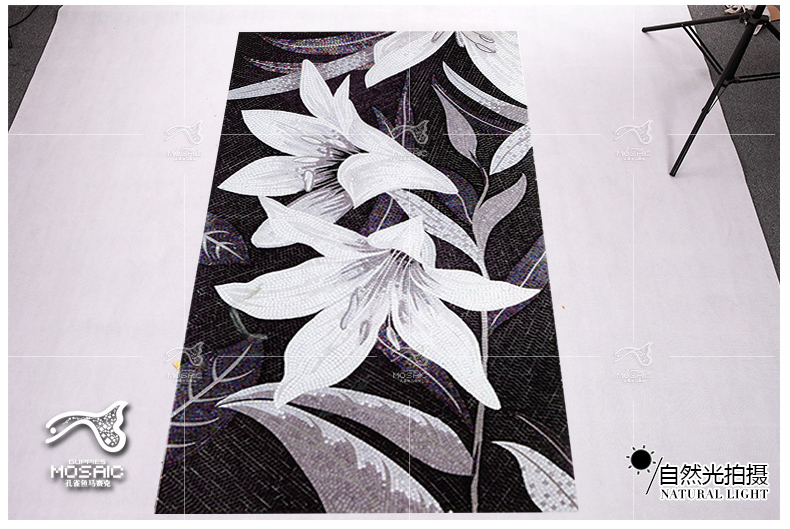 Black And White Bisazza Style Flower Mosaic Home Wall Art Design Ideas Parquet Mosaics Tile Kitchen Bath Living Room Deco On Aliexpress Alibaba