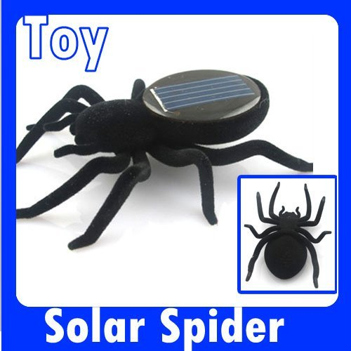Free shipping Solar Energy Powered toy Spider Robot insect fun Solar Toy  150002