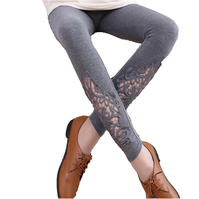 588f2b8f9829d3 2019 Hot Summer Thin Leggings Women Cotton Knitted Legging Hollow Out Lace  Section Diamond Print Flower Leggins Mid Waist Pant