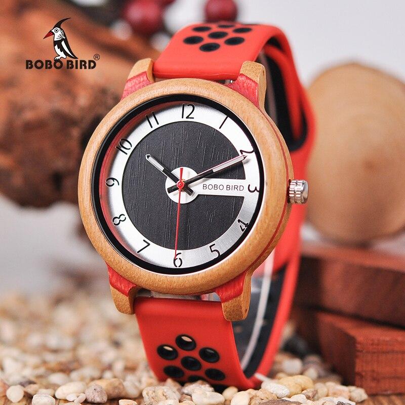 BOBO oiseau Top marque mode bois montre bracelet en Silicone femmes hommes montres reloj mujer Quartz montre-bracelet comme cadeau de lamour V-R11BOBO oiseau Top marque mode bois montre bracelet en Silicone femmes hommes montres reloj mujer Quartz montre-bracelet comme cadeau de lamour V-R11