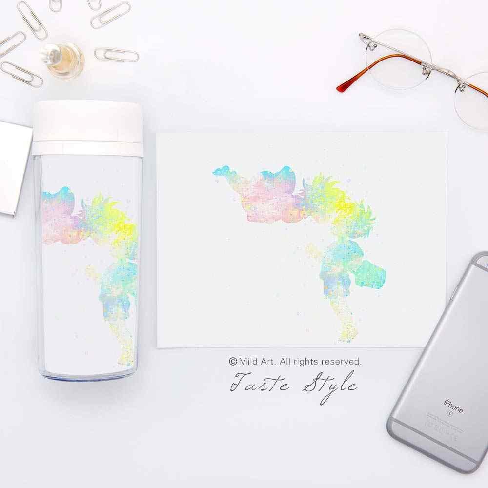 Cat Air Jepang Anime Miyazaki Kartun Ponyo Perlengkapan Minum BPA Gratis Botol Air 300 Ml Plastik Insulated Anak Lucu Hadiah