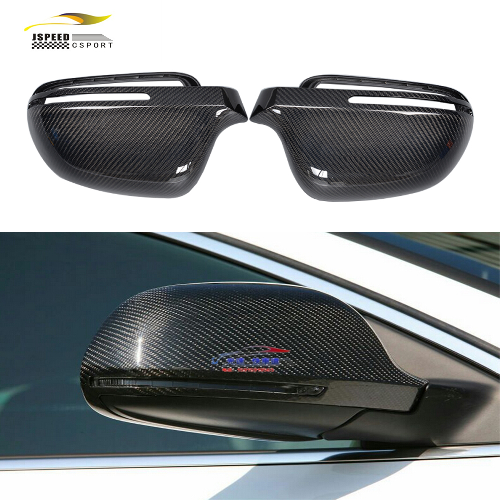 A5 A4 B8 Replacement Styling Carbon Fiber Auto side Mirror Covers For Audi A5 2007 2009