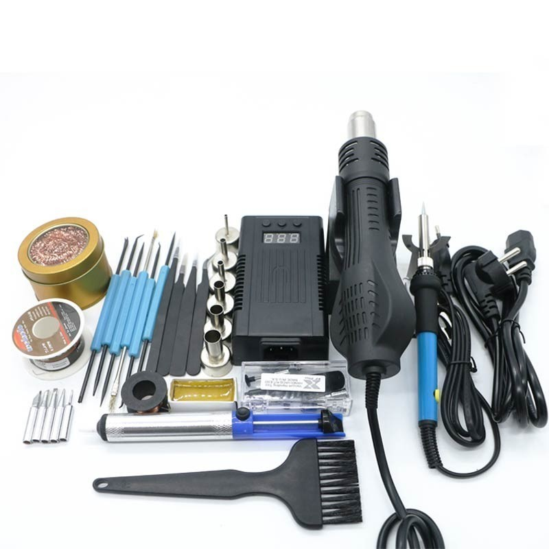 Newest  700w 220/110V Portable BGA Rework Solder Station Hot Air Blower Heat Gun 8858 Better Hand-held Hot Air Gun+repair Tools