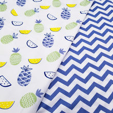 Blue Pineapple Kids Cotton fabric baby quilting cotton twill fabric DIY sewing craft cotton material(China)