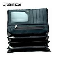 Dreamlizer Women Soft Leather Crocodile Wallet Women Bifold Genuine Leather Female Purse Zipper Coin Purse Lady