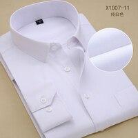 לחתוך דק חולצות גברים 2016 חדש באיכות גבוהה צבעוני אופנתי גברים בגדי גברים גודל גדול צבע טהור חולצות שמלת חולצה לבנה אדומה