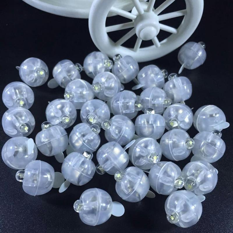 2000Pcs RGB Flash Ball Lamps Mini Balloon LED Light Luminous Lantern For New Year Wedding Party