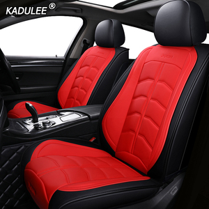 Image 3 - KADULEE luxury leather car seat covers for dodge caliber caravan journey nitro ram 1500 intrepid stratus of 2018 2017 2016 2015