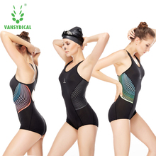 SPT Vansydical Women Swim Bodysuit Professional Sports Swimwear Sexy Girls Quick Dry Striped Bathing Suit Swimsuit