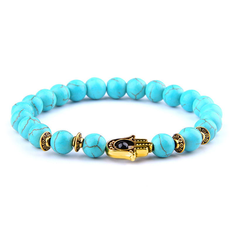 Fatima Hand Bracelet Amulet friendship bracelets women men gold Charm Bracelet blue beads Yoga faith Bracelet gift faith Jewelry|Strand Bracelets| |  - AliExpress