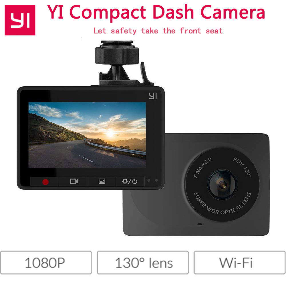 Xiaomi YI Compact Dash Camera Car Dashboard Camera 1080P Full HD 30fps Night Recording Wi Fi