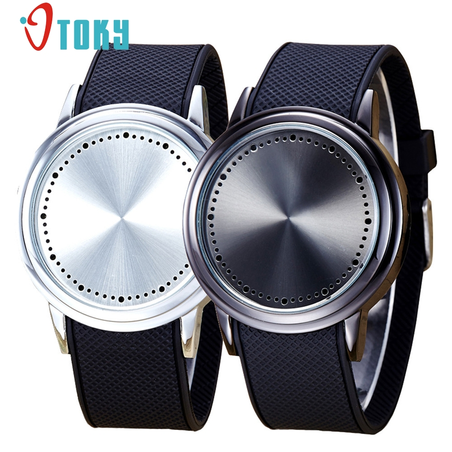 New Arrive Lovers Watch Fashion Couple Touch Screen Circular Pattern Silicone Band LED Wrist Watch for women men #30 Gift 1pc