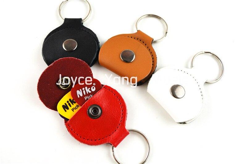 Gran colorido de cuero Selecciones de guitarra Holder Keyring + Free - Instrumentos musicales - foto 2