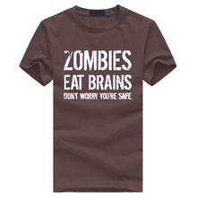"Cool ""Zombies Eat Brains, don't worry You're Safe"" t-shirt"