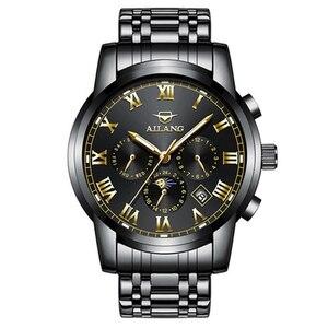 Ailang luxury brand watch men machine Black Skull watch watch sports protection silicone watchband Erkek equity saatleri 2016