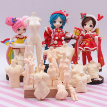 DIY ultra-light clay soft silica gel body mold Q version molded pottery Silicon