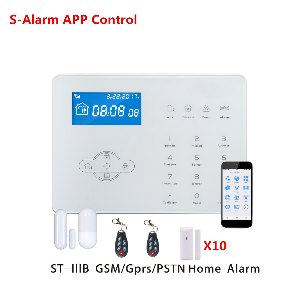 DIY Kit Focus ST-IIIB Wireless Home GSM Alarm System Home Guard Safety Alarm System With WebIE PC Control