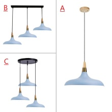 Blue Pendant Light For Kitchen Island Large Lighting Fixtures Bedroom Lights Office Modern Ceiling Lamp Bar Wood Pendant Lamps kitchen island lamps modern ceiling lamp vintage bar pendant lights loft wrought aluminum metal lighting fixtures for one pic