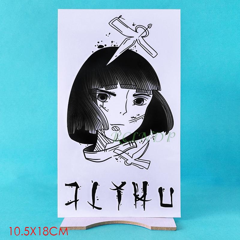 Waterproof Temporary Tattoo Sticker Cool Fake Tatto Flash Tatoo Japan Anime Spirited Away Tato Body Art For Girl Women Men Ziloqa Com Makeup Healthcare Products Surgicalmask Pm2 5mask Kn95mask