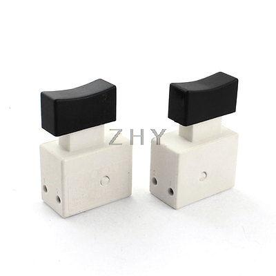 2 Pcs FA2-4/2W5 DPST 2NO Momentary Action Trigger Switch for Electric Drill 5 pin dpst 2 phase 2 button momentary waterproof electromagnetic switch 230vac