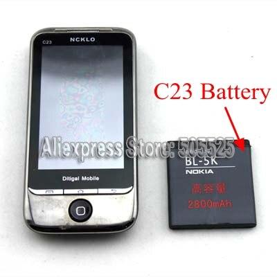 3.7V 2800Mah Black Removable BL 5K Lithium Battery For Phone Reader In Poker Game