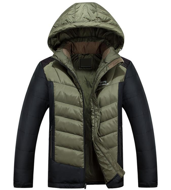 ФОТО 2017 Hombre Winter Down Jacket Men's Hooded Warm Coat Casual Outerwear Thick Parka Fashion Windbreaker Large Size Pluse