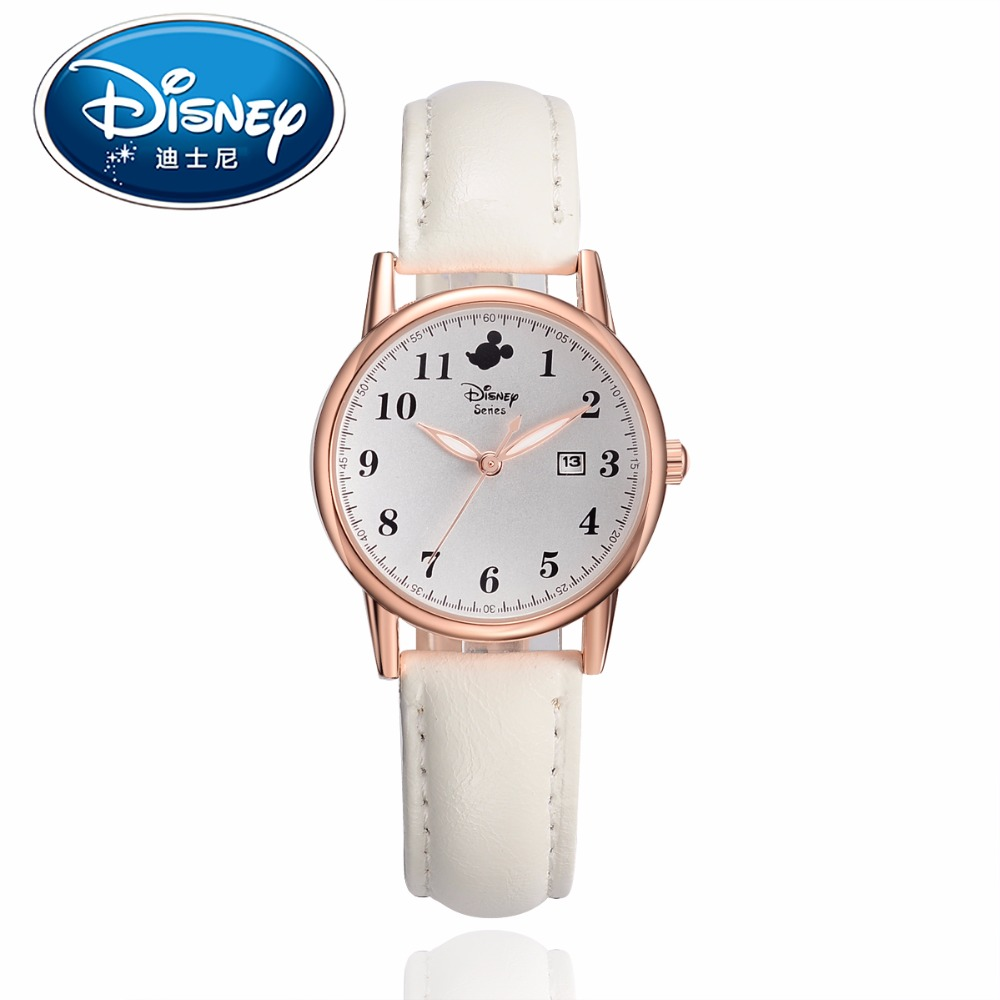 Disney Kids Watches Children Watches  Mickey Mouse Casual Fashion Cute Quartz Wristwatches Girls Boys Clock