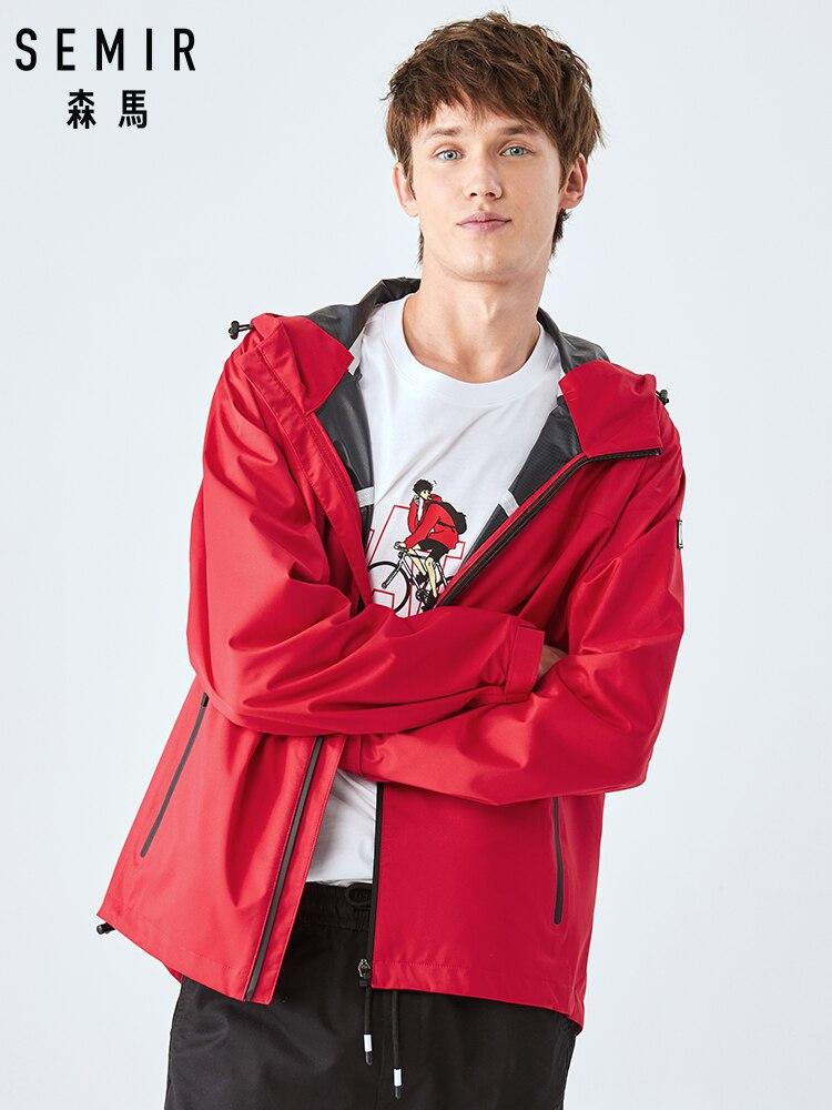 SEMIR Jacket Men Autumn 2019 New Japanese Style Casual Hooded Shirt Men's Youth Black Jacket Men
