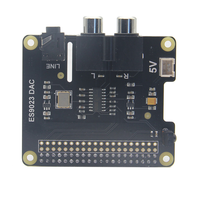 LEORY X900 HIFI DAC ES9023 DAC Expansion Board HD Audio Expansion Board DAC For Raspberry Pi 3 Model B / 2B / A+ / Zero W