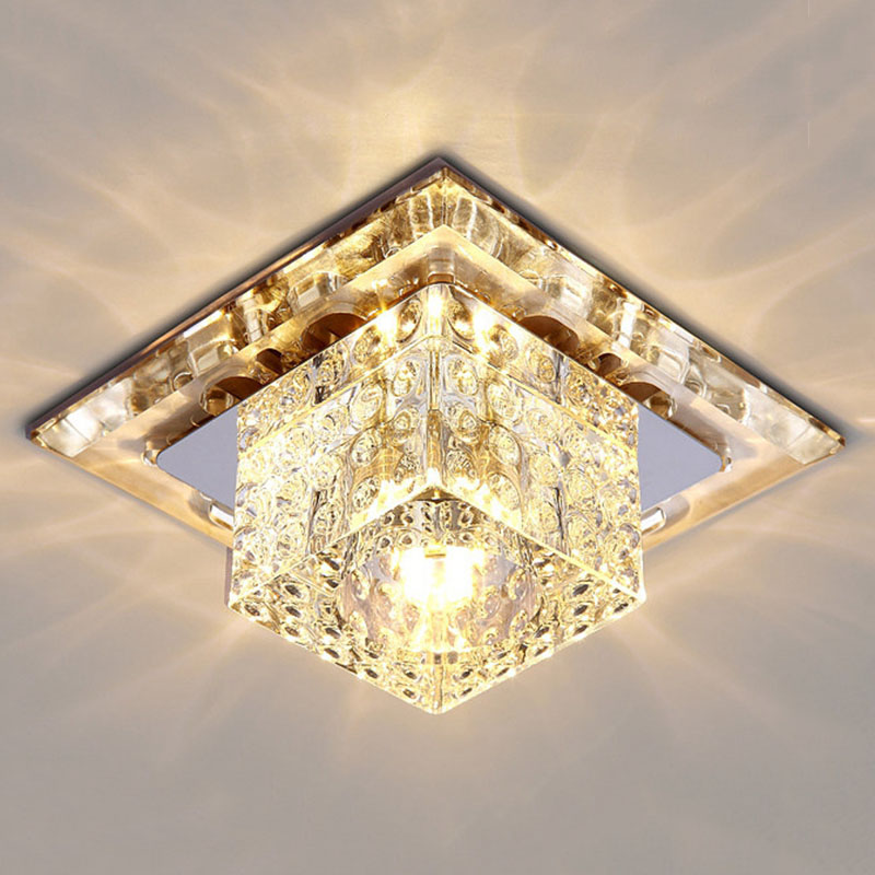 Fumat Modern Ceiling Light K9 Crystal Ball Lustre Mount Hallway Lighting Fixture Led Plafondlamp Luminaria Pendant Ceiling Lamp Comfortable And Easy To Wear Ceiling Lights Ceiling Lights & Fans