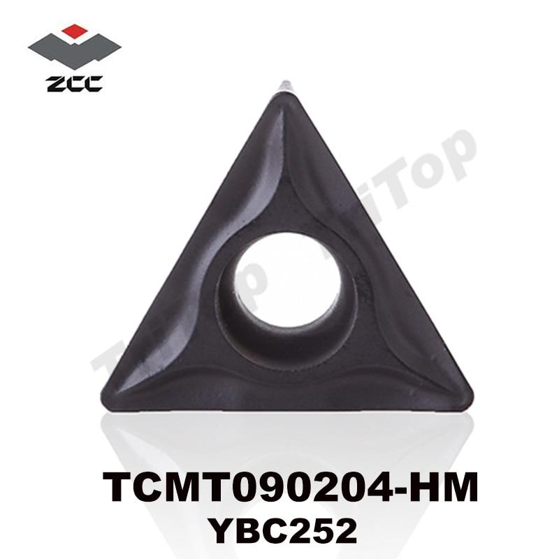 ZCC corte de torno TCMT090204-HM YBC252 carburo cementado encastres Carbure  placa TCMT090204 tcmt 090204 c9a58b5f908