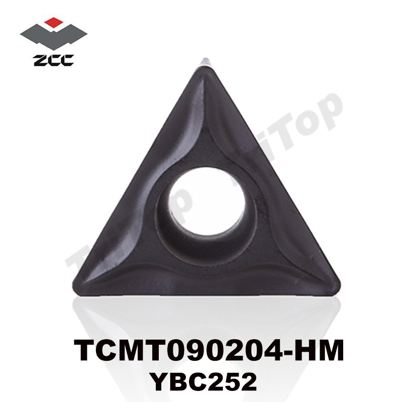 ZCC Lathe Cutting Tools  TCMT090204-HM YBC252 Cemented Carbide Turning Inserts Postive Carbide Plate TCMT090204 TCMT 090204