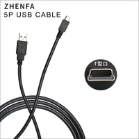 0.5M 1M 1.5M 3M 5M Mini 5P Cable USB2.0 Type A Male to data sync charger cable USB to USB For MP3 MP4 MP5 Player HDD mobile
