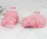 Lucky pig silicone cake mould soap mold Gypsum aromatherapy diffused stone ornaments baking tool